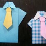 父の日のプレゼントに折り紙を!簡単なワイシャツの折り方