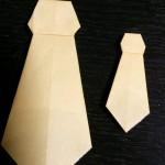 父の日のプレゼントに折り紙を!簡単なネクタイの折り方(太い編)