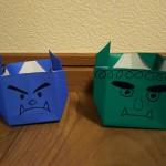節分で豆まきするなら鬼の豆入れ箱を折り紙で作っちゃおう!